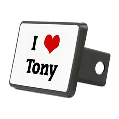 I Love Tony Rectangular Hitch Cover