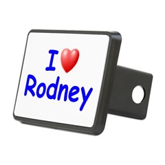 I Love Rodney (Blue) Rectangular Hitch Cover