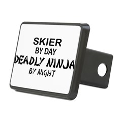 Skier Deadly Ninja Rectangular Hitch Cover