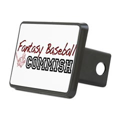 Fantasy Baseball Commish Rectangular Hitch Cover