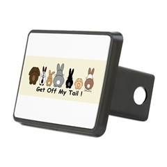 Get Off My Tail Rectangular Hitch Cover