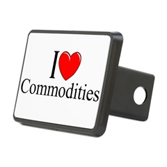 """I Love (Heart) Commodities"" Rectangular Hitch Cover"
