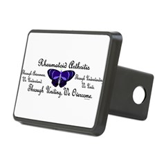 Butterfly Awareness 1 (Rheumatoid Arthritis) Rectangular Hitch Cover
