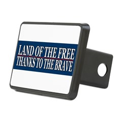 Patriotic - American Veteran Rectangular Hitch Cover