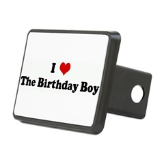 I Love The Birthday Boy Rectangular Hitch Cover