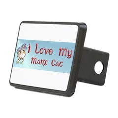 Manx Cats Rectangular Hitch Cover