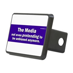 the media not even pretending to be unbiased anymo Rectangular Hitch Cover