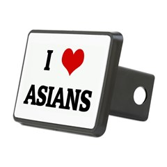 I Love ASIANS Rectangular Hitch Cover