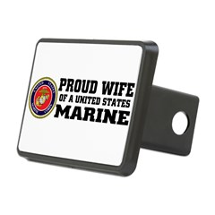 Marine Proud Wife Rectangular Hitch Cover