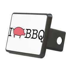 I Cook BBQ Rectangular Hitch Cover