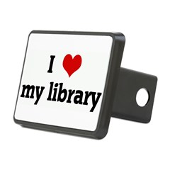 I Love my library Rectangular Hitch Cover