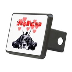 schnauzer love Rectangular Hitch Cover