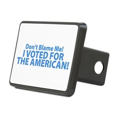 I Voted For The American Rectangular Hitch Cover