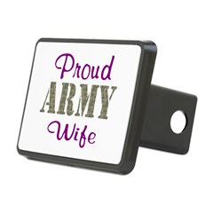 Army Purple Home/Office Rectangular Hitch Cover