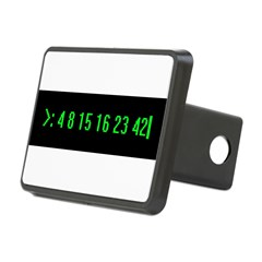 Numbers Rectangular Hitch Cover