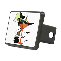 Halloween Martini Girl Rectangular Hitch Cover
