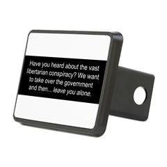 Libertarian Conspiracy Rectangular Hitch Cover
