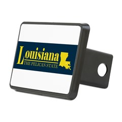 Louisiana Gold Rectangular Hitch Cover