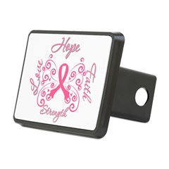 Breast Cancer Butterfly Hope Rectangular Hitch Cover