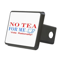 NO TEA FOR ME Rectangular Hitch Cover