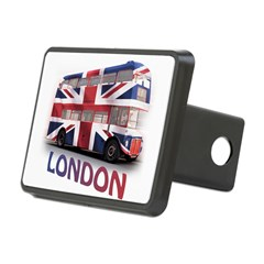 London Bus with Union Jack an Rectangular Hitch Cover