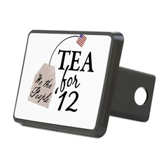 Vote Tea Party 2012 Rectangular Hitch Cover