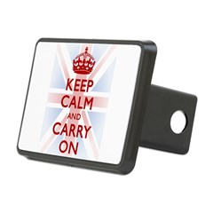 Keep Calm and Carry On Rectangular Hitch Cover