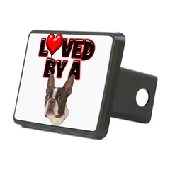 Loved by a Boston Terrier Rectangular Hitch Cover