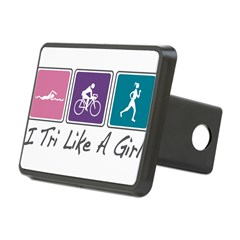 Tri Like A Girl Triathlete Rectangular Hitch Cover