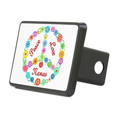 Peace Love Nanas Rectangular Hitch Cover