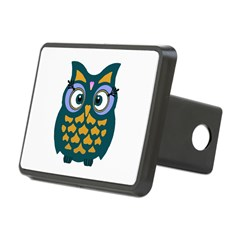 Retro Owl Rectangular Hitch Cover