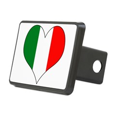 Italy Heart Rectangular Hitch Cover