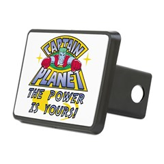 Captain Planet Power Rectangular Hitch Cover