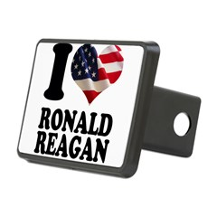 I heart American Flag Ronald Rectangular Hitch Cover