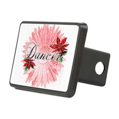 Dancer Pink Snow Flower Rectangular Hitch Cover