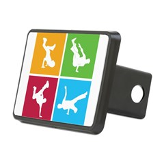 Nice various breakdancing Rectangular Hitch Cover