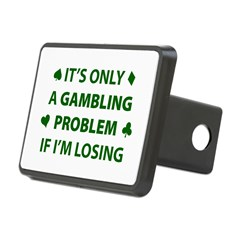 Gambling Problem Rectangular Hitch Cover