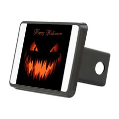 Happy Halloween Pumpkin Rectangular Hitch Cover