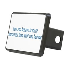 Behave / Believe Rectangular Hitch Cover
