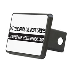 Bumper Sticker - Western Heritage Rectangular Hitch Cover