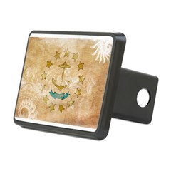 Rhode Island Flag Rectangular Hitch Cover