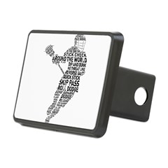 Lacrosse LAX Player Rectangular Hitch Cover