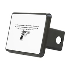 The Second Amendment Rectangular Hitch Cover