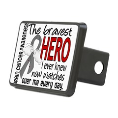 Bravest Hero I Knew Brain Cancer Rectangular Hitch Cover
