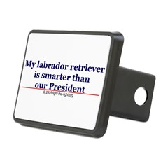 My labrador retriever is smarter (bumper sticker) Rectangular Hitch Cover