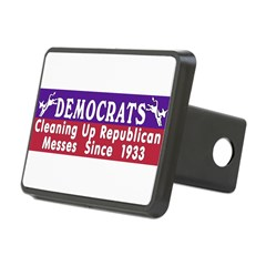 Democrats Rectangular Hitch Cover