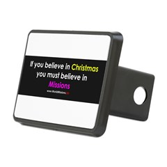 Christmas & Mission Rectangular Hitch Cover