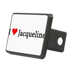 I Love Jacqueline Rectangular Hitch Cover