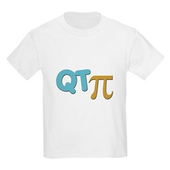 QT Pi (Cutie Pie) Kids Light T-Shirt