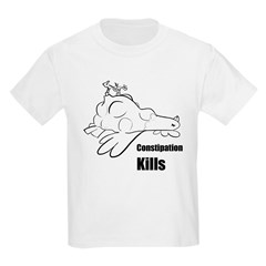Constipation Kills! Sleeveless Chicken T-Shir Kids Light T-Shirt
